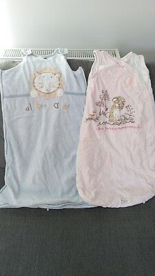 Two baby sleeping bags, 6-9/6-12 months