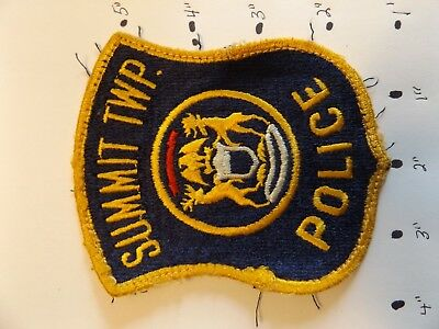 Summit Township Michigan Police Patch