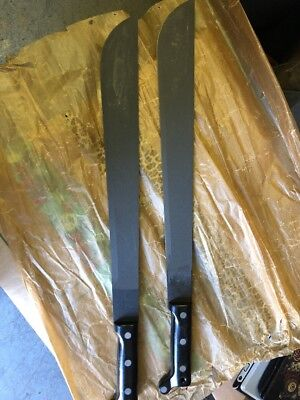 "Lot Of 2 USMC MK2 1944 Machete 22"" Blade"