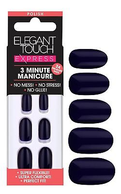 Elegant Touch Express Faux Ongles - Poli Profond Marine (24 Ongles)