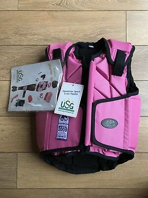 USG Eco-Flexi Body Protector Child - BNWT- Size Small - Pink