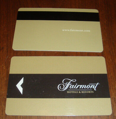 Fairmont Hotels & Resorts Hotel Room Key Card From USA Hotels