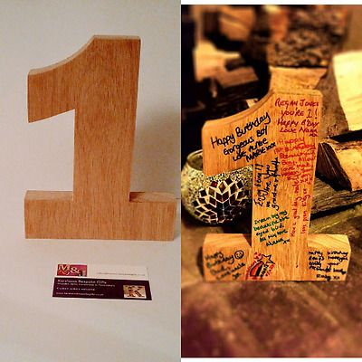1st Birthday Number 1, Wooden Number 1, write your own birthday messages.