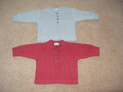 Baby boy 2 x vintage 1990s polo cotton tops  H & M  age 3 months approx