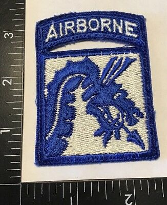 WW2 WWII US Army XVIII 18th Airborne Corps Patch Attached Tab Para No Glow Rare