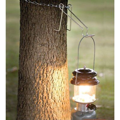 Coleman Lantern Hanging Hanger & Chain Camping Outdoor Lamp Tree Hook Holder Cam