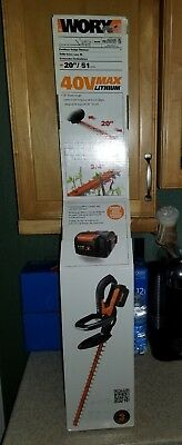 """Worx 40volt Cordless Hedge Clippers Trimmer WG280 40v Lithium 20"""" Blade New"""