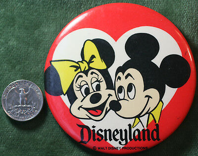 1960s Disneyland Mickey Mouse Pin Button Badge Walt Disney Productions