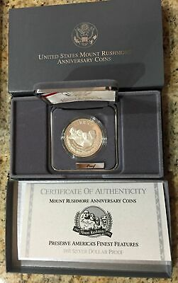 1991 Mount Rushmore Commemorative Silver Dollar Proof US Coin - (OGP)