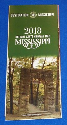 Brand New 2018 Mississippi Official State Highway Map Excellent Reference Guide