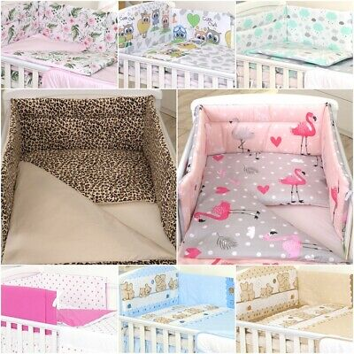 Bedding Set For Cot & Cot Bed 3 Pcs,4, 6,10, Cot Tidy, Duvet, Canopy -100%cotton
