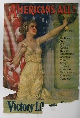 Original Vintage WWI, World War I Poster, AMERICANS ALL, H.C. Christy, 1919