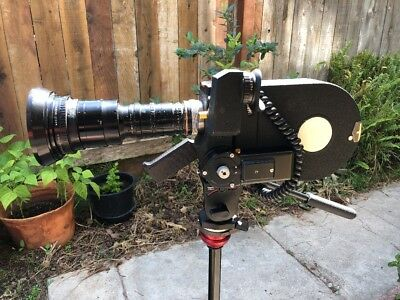 Eclair ACL 16mm Film Camera With 9.5-95mm Angenieux Lens, Cable And 2 Magazines