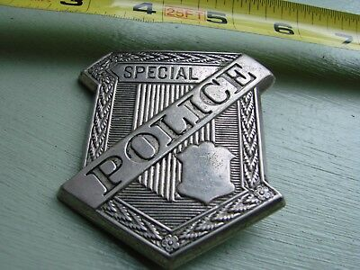 Obsolete antique Special Police Radiator Badge