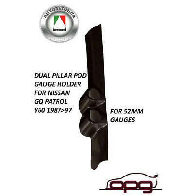 Dual Pillar Pod Black Gauge Holder Mount For Nissan GQ Patrol Y60 1987-1997