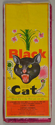 Black Cat Brand Firecracker Pack label 60s ICC Macau