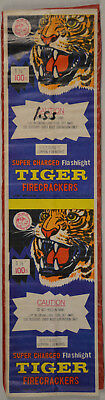 Tiger Brand Firecracker Pack label 100s DOT Macau