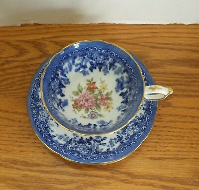 PARAGON BLUE FLORAL CUP and SAUCER