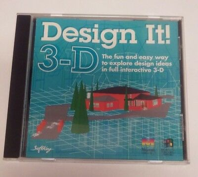 The Learning Company Design It 3D for PC, Mac Softkey 1995