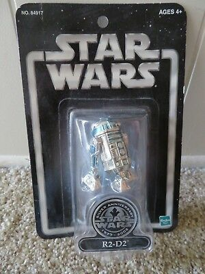 Star Wars R2-D2 Silver Anniversary 3.75 Action Figure