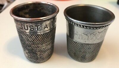 Just A Thimble Full Shot Glasses 1 Marked Made In England