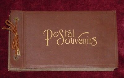 1908 Era Postcard Album Collection Rock Island Arsenal 37 Vintage Cards