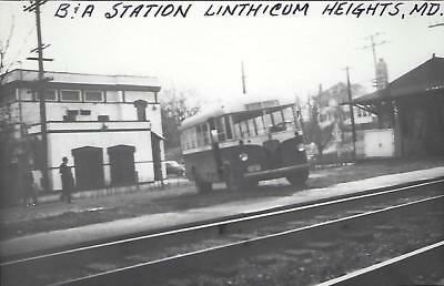 Linthicum Heights, Maryland Railroad Depot Real Photo Postcard- RPPC