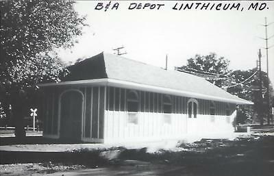 Linthicum, Maryland Railroad Depot Real Photo Postcard- RPPC