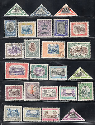Liberia Africa Stamps Canceled  Used And Mh  Lot 28026