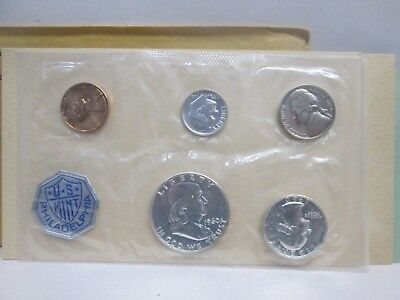 1962 U.S. Mint 5 Coin Proof Set in Original Packaging un-opened NR