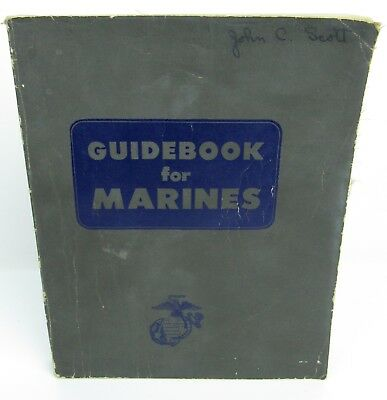 Guidebook for Marines 1957 War US Military Armed Forces Guide
