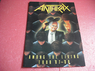 ANTHRAX AMONG THE LIVING Japan Tour Program Japanese Concert Brochure 1987〜88