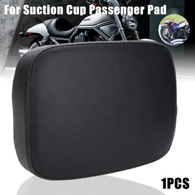 Rectangle Rear Pillion Passenger Pad Seat 8 Suction Cup  For Harley XL883 1200