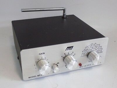MFJ-1020A MULTI-BAND SHORTWAVE RECEIVING ACTIVE ANTENNA COVERS 300 kHz TO 30 MHz