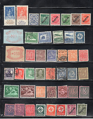 Germany Some World War Ii Stamps Canceled & Mint Hinged  Lot 28063