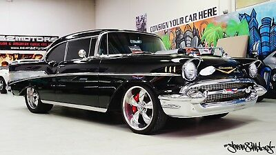 LHD 57 Chevy 2 door pillarless coupe v8 Suit 55 56 Belair Bel Air Chevrolet Chev