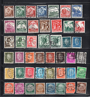 Germany Some World War Ii Stamps Canceled & Mint Hinged  Lot 28061