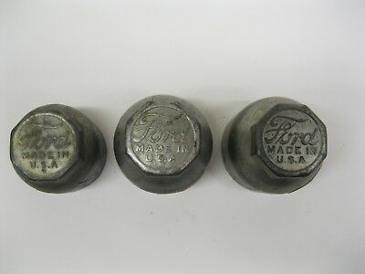 Original Ford Script Brass Hub Cap Dust Grease Cap Model T 1920's ? It's a guess