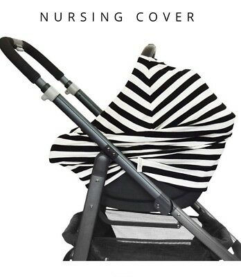 Covered Goods Black/Ivory Striped Multi use Maternity Breastfeed Nursing Cover