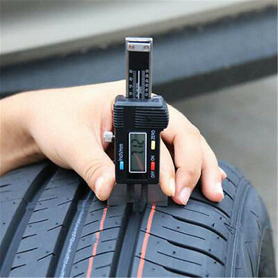 Digital LCD Depth Gauge Car Tyre Tire Tread Brake Pad Shoe Pad Wear 0-25mm