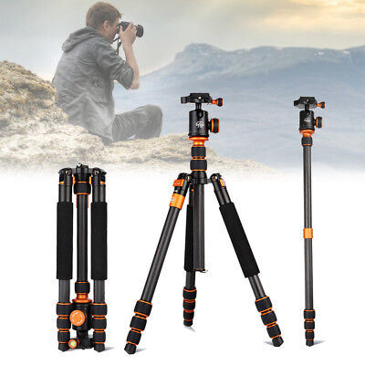 Portable Tripod SLR Camera Monopod Carbon Fiber Support 4 Sections SL288C AU New