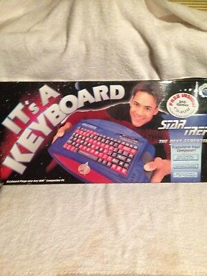 Star Trek  The Next Generation  Keyboard With Free 250 Games Cd -Rom Vintage And