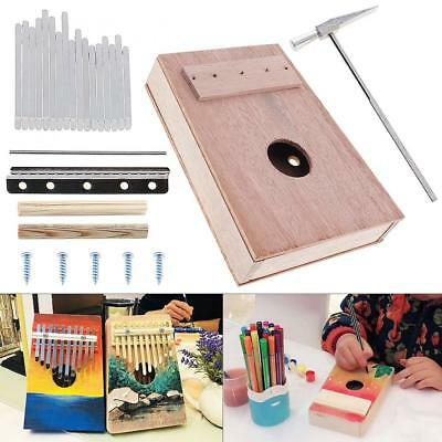 17 Key Kalimba DIY Kit Mahogany Thumb Piano Mbira for Handwork Painting for Kids