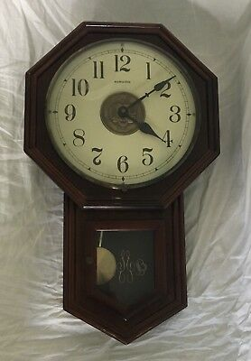 UCSB Hamilton Westminster Chime Battery Powered Wall Clock