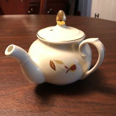 Hall China, Autumn Leaf, NALCC, Side-Handled Manhattan Teapot + LID, 2007, MINT!