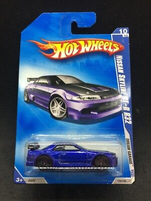 Hot Wheels 2009 Nissan Skyline GT-R R32 Blue Dream Garage JDM Import Rare HTF
