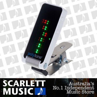 TC Electronic PolyTune ( Poly-Tune ) Clip-on Polyphonic Tuner - White
