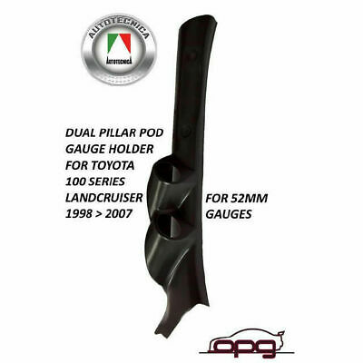 Dual Pillar Pod Gauge Holder Black For Landcruiser 100 Series 1998-2007