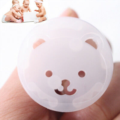 Baby Power Socket Plug Bear Protective Cover Kids Anti Electric Safety Protector