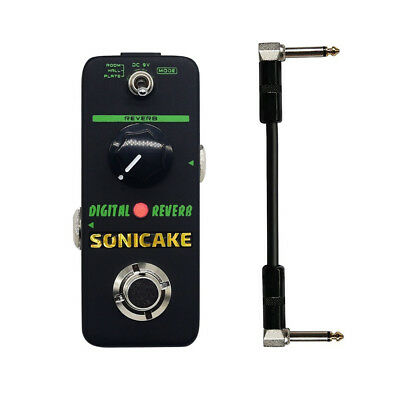 Sonicake Digital Reverb Mini Guitar Effects Pedal True Bypass &15cm cable QSS-06